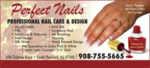 Nail Salon South Plainfield Nj 07080 Perfect Nails 694 Oak Tree Ave Coupons